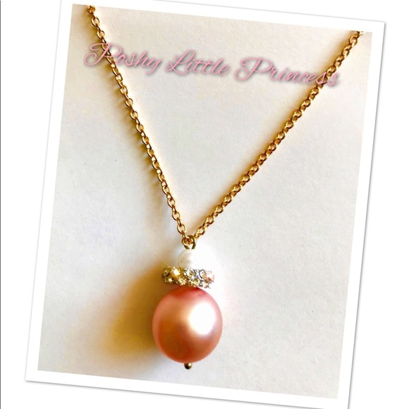 Poshy little princess jewelry big pink pearl pendant poshmark big pink pearl pendant aloadofball Choice Image